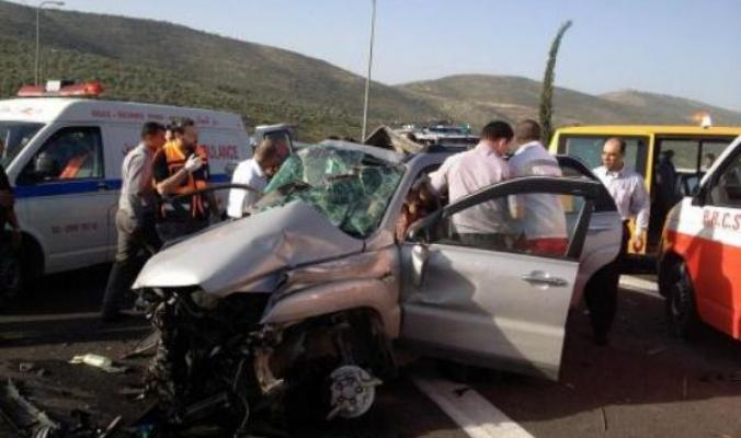 إصابة 6 أشخاص بحادث سير في قلقيلية