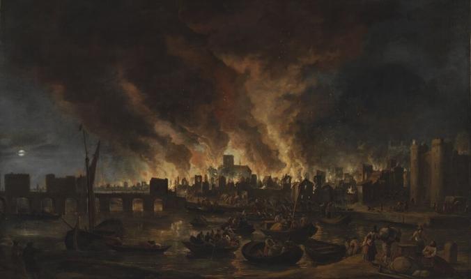 """دمر 13 ألف منزل وترك 100 ألف شخص بلا مأوى.. """"حريق لندن الكبير"""" مؤامرة كاثوليكية أم خطأ من خباز الملك؟"""