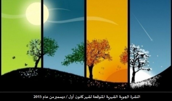 طقس فلسطين يصدر النشرة الشهرية لشهر كانون أول / ديسمبر 2015