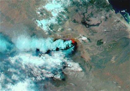 زلزال يضرب منطقه قريبه من بركان nabro وطقس فلسطين يتابع احتمال ثوران البركان مرة اخرى