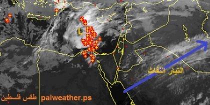 العواصف الرعدية تشعل البحر المتوسط من قبرص وحتى مصر
