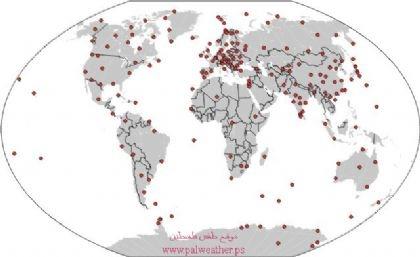 موقع طقس فلسطين يرد على الجزيرة نت !! في المائة عام الأخيرة تحرك القطب الشمالي المغناطيسي 1100كم عن مكانه