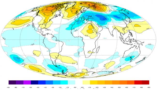 درجات الحرارة العالمية تواصل إنخفاضها للشهر الثامن على التوالي......أين هو الأحتباس الحراري يا عالم؟!