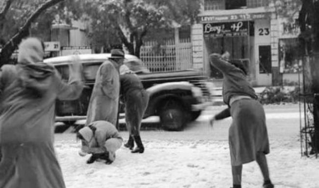 """العاصفة الثلجية """"المستحيلة"""" ...6 شباط 1950"""