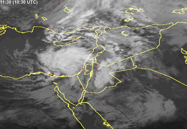أجواء ماطرة وعاصفة في معظم أرجاء البلاد خلال الساعات القادمة