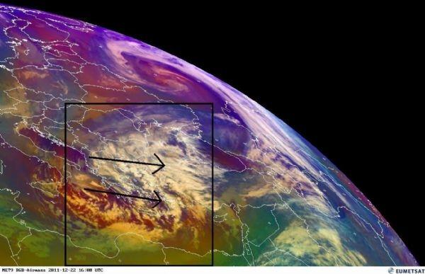 حركة الغيوم الماطرة في شرق المتوسط